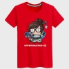 Lovely Overwatch Mei Tshirts Black OW Hero Tees For Boys Girls