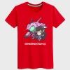 Blizzard Overwatch D.Va Character Shirts Black Couple T-shirts
