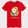 Lovely Overwatch Mercy Character T-Shirt Black Couple Tees