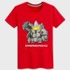 Overwatch Reinhardt Shirts Mens black T-shirt