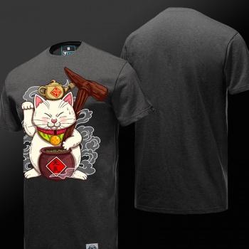 Dragon Ball Z Q Version Karin Sama Tshirt Gray Cotton 4XL Tee Shirt
