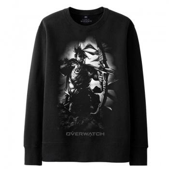 Overwatch Hanzo Hoodie For Young Black Sweat Shirt