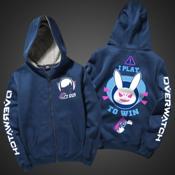 Lovely DVA Hoodie Zipper Blizzard Overwatch Hero Sweater