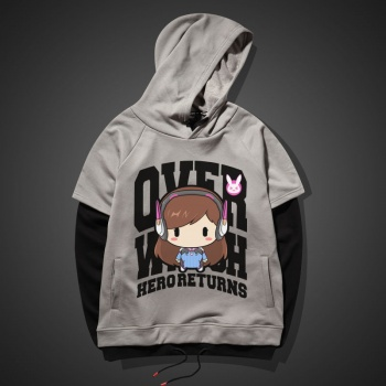 Lovely DVA Hoodie Blizzard Overwatch Hero Red Sweater