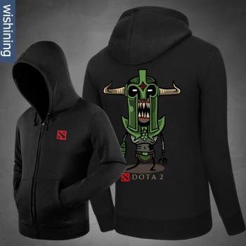 Cool DOTA 2 Undying Hoodie Negro Zip hasta la camiseta para los hombres