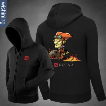 DOTA 2 Batrider Knight Zip Up Hoodie Black