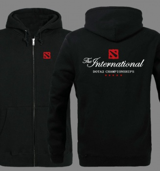 The international Dota 2 championship Zip Up Hoodie for Men