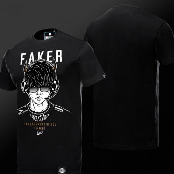 Demon King Faker T shirt Blue Shirts For Boys