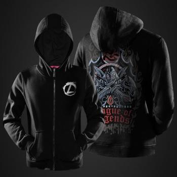 League of Legends Zed Hoodies Mens Boys Black LOL Master of Shadows Sweatshirts