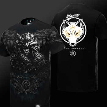 Limited Edition Overwatch 3D Hanzo T-shirt OW Hero Black Tee Shirt