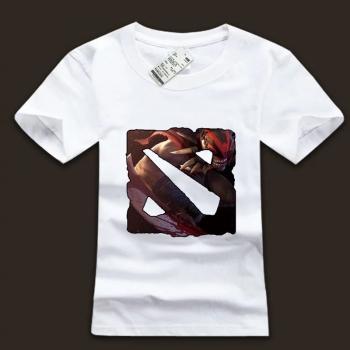 Quality DOTA 2 Logo Tee Bloodseeker Character T-Shirt