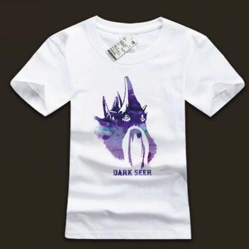 Quality DOTA 2 Dark Seer T-shirt Ink Printing White Shirt