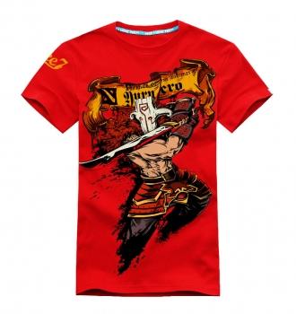3D Printing DOTA 2 Juggernaut T-shirts Red Mens Tees