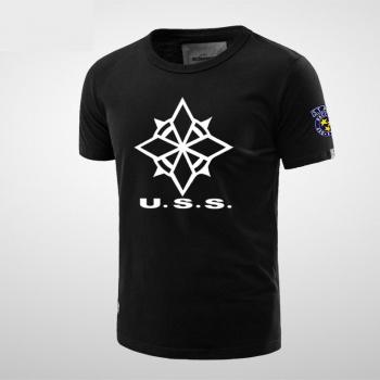Resident Evil USS Logo Tee For Mens Black T Shirts