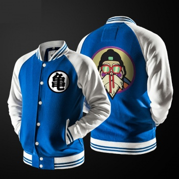 Dragon Ball Master Roshi Baseball Hoodie Blue Dragon Ball Kame Sennin Sweater