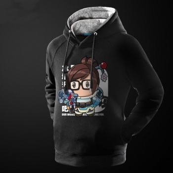 Cartoon Overwatch Mei Hooded Sweatshirt Mens Black Hoodie