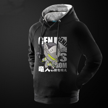 Lovely Cartton Overwatch Genji hoodie High Quality Mens Sweatshirt
