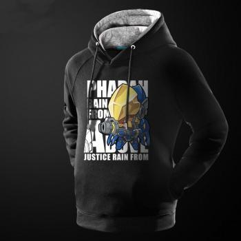 Lovely Cartoon Overwatch Pharah Hoodie Black Pullover Sweatshirt For Men