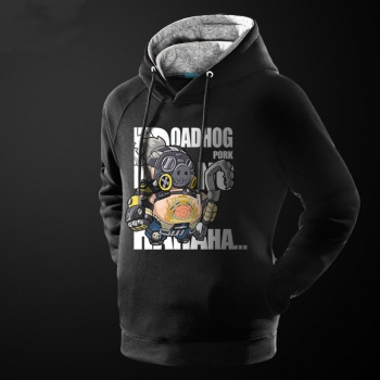 Overwatch Roadhog Sudadera Con Capucha Camiseta del héroe de la ventisca OW para los hombres