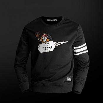 Cool Dragon Ball Z Maestro Roshi suéter Negro hombres Boy Sudadera