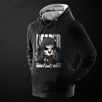 Lovely Design Overwatch Reaper Hooded Sweatshirt Black Men Hoodie