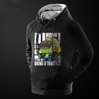 Love Cartoon Overwatch Zarya Hoodie Black Men Hooded Sweatshirt