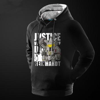 Lovely Overwatch Reinhardt Hoodie Blizzard Over Watch Hero Sweatshirt