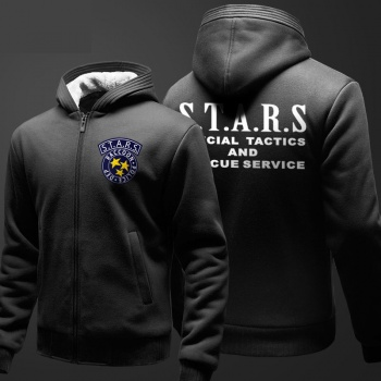 Resident Evil Umbrella Hooded Sweatshirts Men Black Zip Hoodie