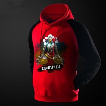 Ink Printed Red Overwatch Zenyatta Hoodie For Men