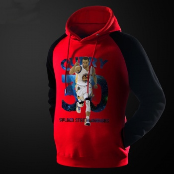NBA Curry Sweatshirt Mens red Pullover Hoodie