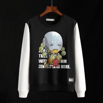Blizzard Overwatch Zenyatta Sweatshirt OW Hero Black Clothing