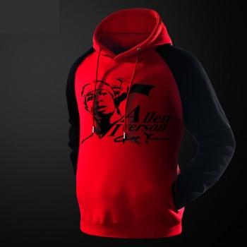 NBA Allen Iverson sudadera con capucha para los chicos suéter rojo
