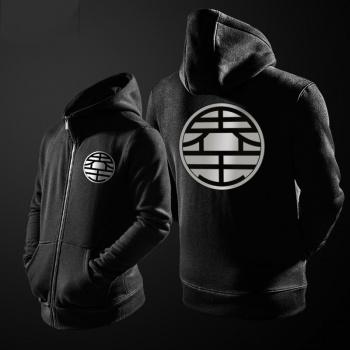 Quality Dragon Ball King Kai Hoodie Zip Up Black kaio Sweater For Youth