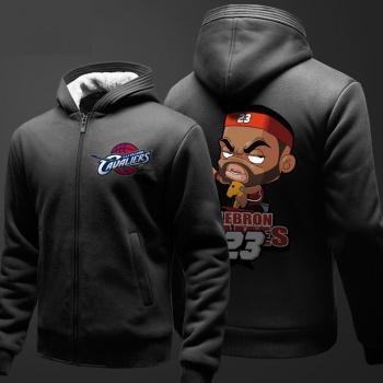 Sudadera con capucha de la historieta de NBA James para los muchachos suéter negro