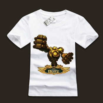 LOL Blitzcrank T-Shirts Great Steam Golem Tees For Boys