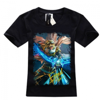 White leage of legends Ezreal Tee Shirts For Boys