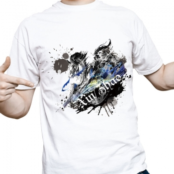 LOL Xin Zhao T-Shirts Ink Printed league of legeds Tees For Men