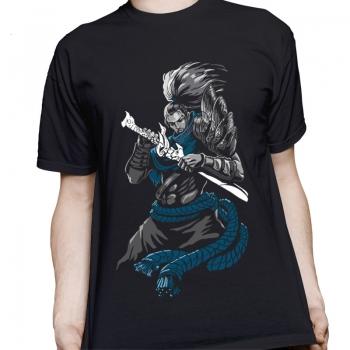 Negro para hombre de la liga de leagends Los Unforgiven Yasuo Camisetas