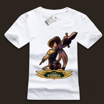 Cool Mens White leuge of legends Fiora Tee Shirts