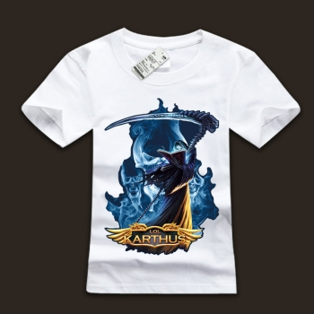 League of leagends LOL Karthus T Shirts 100% Cotton Tees For Men