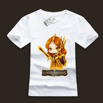 Lovely LOL Leona T-Shirts White Boys Tees