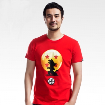Dragon Ball Son Goku Tshirts Red Man Cotton Tees