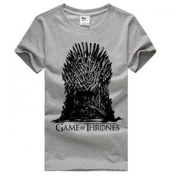 Games of Throne Iron Throne T-shirts Gray Short Sleeve Tees For Mens