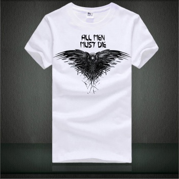 All Men Must Die Tshirts Song of Ice and Fire White T-shirts For Mens