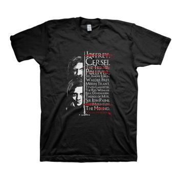 Arya Stark Sword Needle T-shirts Game of Thrones Black Tees