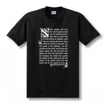 Game of thrones The Night's Watch Oath T Shirts