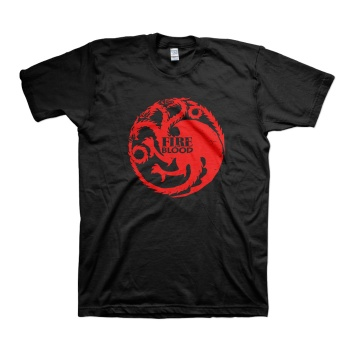 House Targaryen Red Three-headed Dragon T-shirts