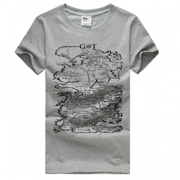 Game of Thrones Map Grey T-shirts