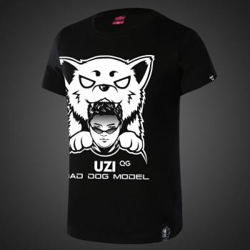 LOL UZI Team Mad Dog Model QG Black T-shirts