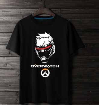 Overwatch Soldier 76 Tees Black T-Shirts